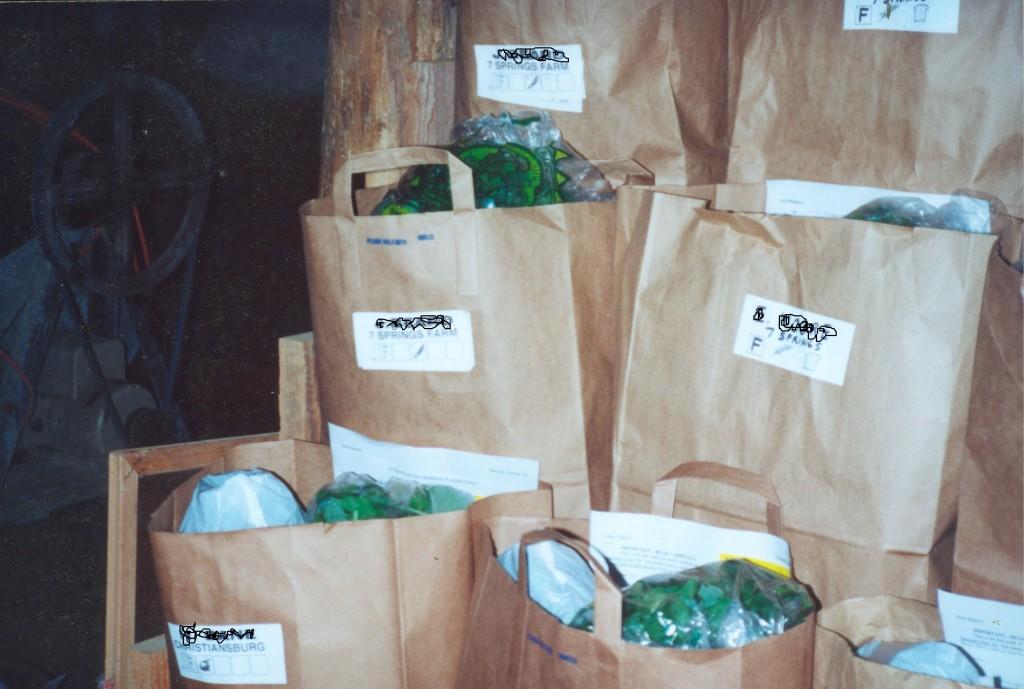 CSA bags blog Seven Springs, Floyd