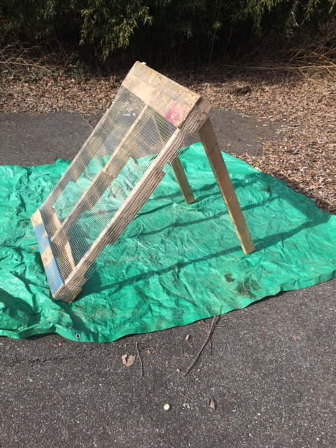 Freestanding compost screen. Photo by Beth LeaMond