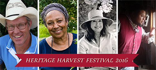 Heritage harvest Festival Speakers include Joel Salatin, Ira Wallace, Michael Twitty and many more. Photo Southern Exposure