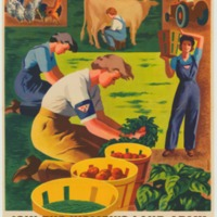 """Pitch in and help"" Women's Land Army Poster, USDA National Agricultural Library"